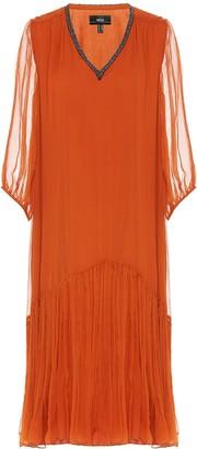 Nissa Silk Midi Dress