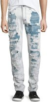 PRPS Barracuda Bleached & Distressed Denim Jeans, Light Blue