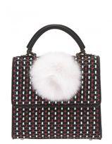 Les Petits Joueurs Woven Leather Handbag