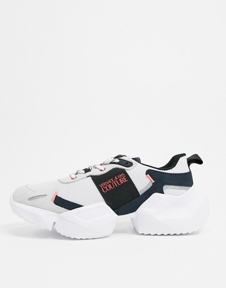 Versace chunky trainers in white