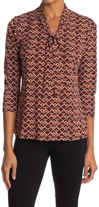 Love by Design Stamford Tie Neck 3/4 Sleeve Top