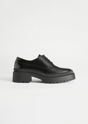 And other stories Chunky Heeled Leather Oxfords