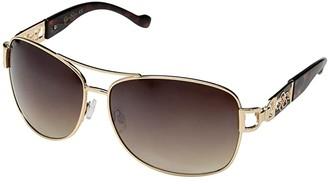 Jessica Simpson Combo Navigator Jessica Temple (Gold/Tortoise) Fashion Sunglasses