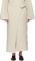 LAUREN MANOOGIAN Beige Cashmere Wrap Blanket Skirt