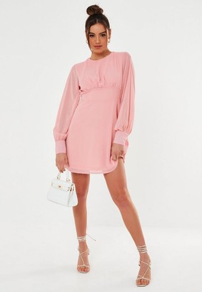 Missguided Keyhole Back Skater Dress
