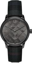 Burberry Men's Swiss The Classic Round Dark Gray Fabric Strap Timepiece 40mm BU10010