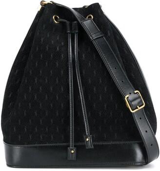 Saint Laurent All-Over Monogram Bucket Bag