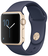 Apple Watch Series 1 38mm Gold Aluminium Case with Sport Band, Midnight Blue