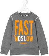 Diesel printed sweatshirt - kids - Cotton - 2 yrs