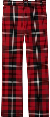 Marc Jacobs Check Straight-Leg Trousers