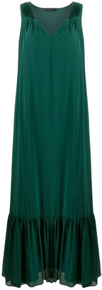 Fabiana Filippi Ruffled Hem Sleeveless Gown