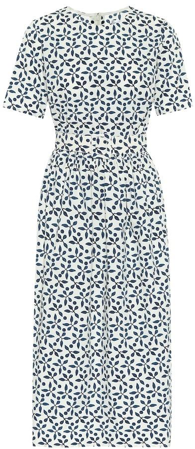 Oscar de la Renta Exclusive to Mytheresa Printed stretch-cotton midi dress