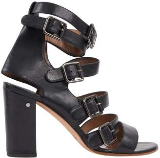 Laurence Dacade Black Leather Sandals