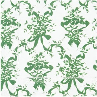 Emilia Wickstead Set Of Four Floral-print Linen Napkins - Green Print