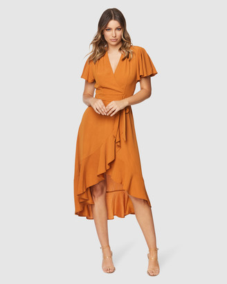 Pilgrim Women's Gold Maxi dresses - Lorin Maxi Dress - Size One Size, 6 at The Iconic