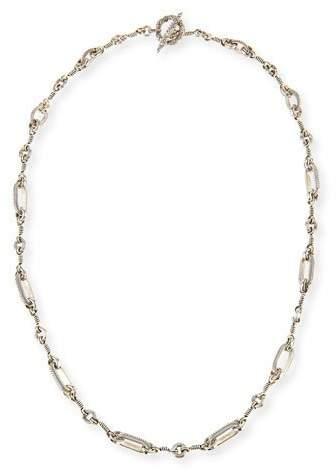 Stephen Dweck Carved Rectangle Link Necklace