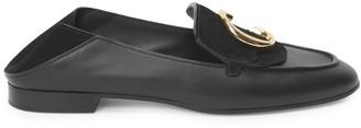 Chloé C Leather & Nubuck Loafers