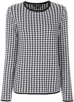 Giambattista Valli houndstooth pattern jumper