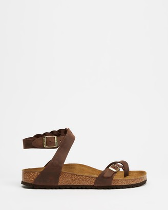Birkenstock Women's Brown Flat Sandals - Yara Braided - Women's - Size 36 at The Iconic