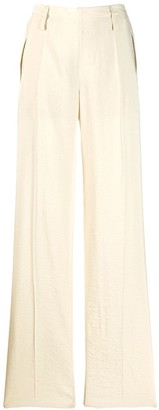 Lemaire elasticated waist wide-leg trousers