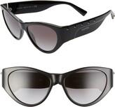 Valentino 55mm Rockstud Cat Eye Sunglasses