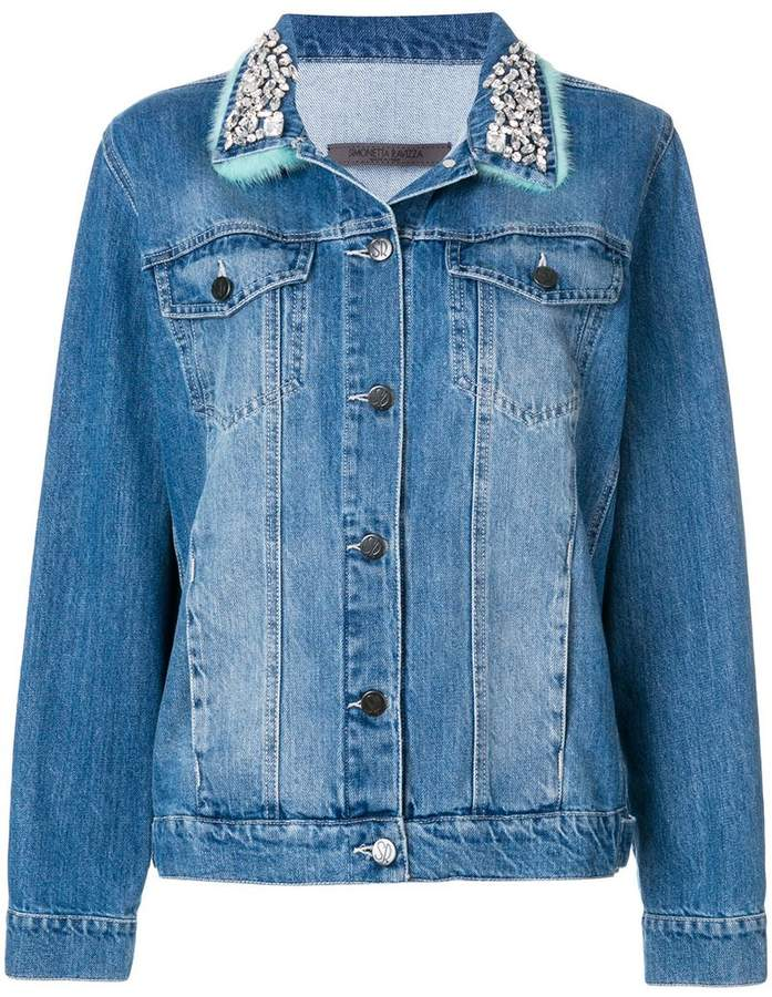Simonetta Ravizza embellished collar jacket