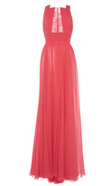 Zuhair Murad Long Flared Georgette Dress