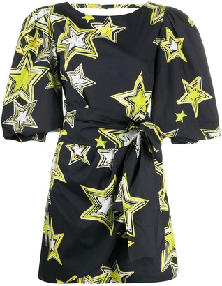 Gina Star Print Mini Dress