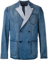 Christian Pellizzari denim double-breasted jacket - men - Cotton - 48
