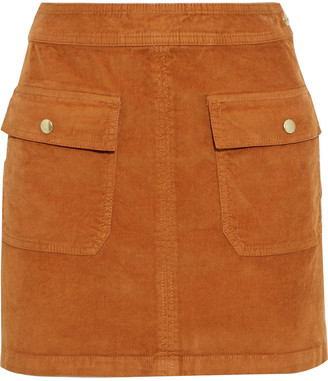 Frame Le Cord Bardot Stretch-cotton Corduroy Mini Skirt