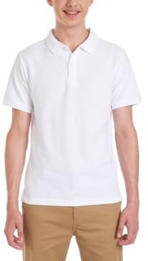 Nautica Young Men Short Sleeve Double Pique Polo