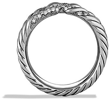 David Yurman Willow Five-Row Ring with Diamonds