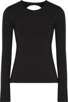 Norma Kamali Cutout stretch-jersey top