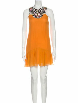 Matthew Williamson Silk Mini Dress Orange