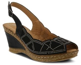 Spring Step Patrizia By Sparkle Wedge Sandal