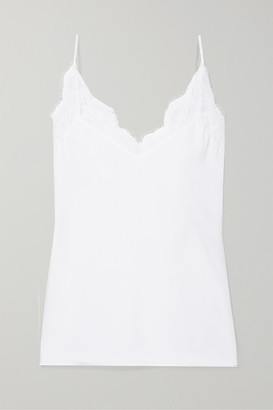 CAMI NYC The Marisol Lace-trimmed Gauze Camisole
