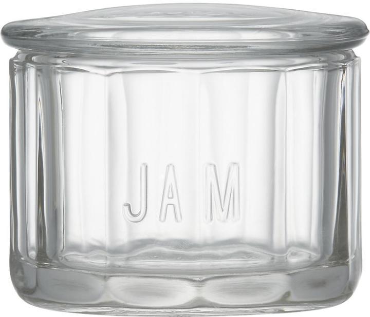Crate & Barrel Glass Jam Jar