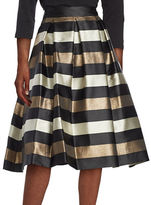 Eliza J Striped A-Line Skirt
