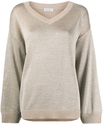 Brunello Cucinelli Metallic Knit Jumper