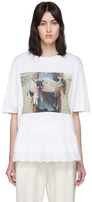 Simone Rocha White Lamb Print A-Line T-Shirt