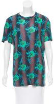 Christopher Kane Floral Print Short Sleeve Top