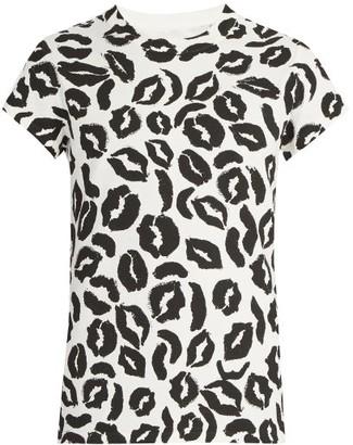 Maison Margiela Lip-print T-shirt - Mens - White Multi