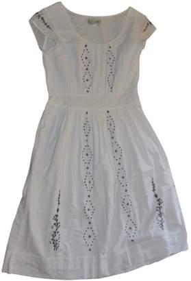Banana Republic \N White Cotton Dress for Women