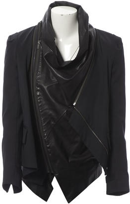 Elizabeth and James Black Leather Jacket for Women