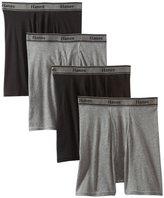 Hanes Men's Tagless Cotton Boxer Briefs (Pack of 4)