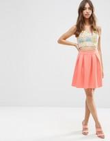 Asos Scuba Mini Prom Skirt