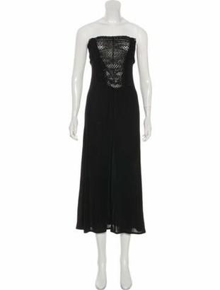 Valentino Sequined Midi Dress Black