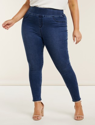 Forever New Charlotte Curve High-Rise Jeggings - Dark Wash - 16