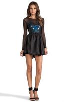 Donna Mizani Hologram Sweetheart Flounce Dress