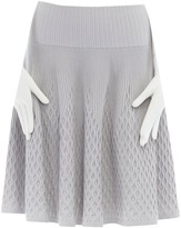 Alaia Grey Wool Skirt for Women